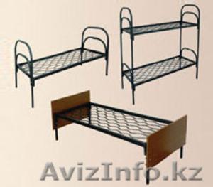 Кровати металлические для казарм, кровати двухъярусные для общежитий, оптом - Изображение #1, Объявление #1436420