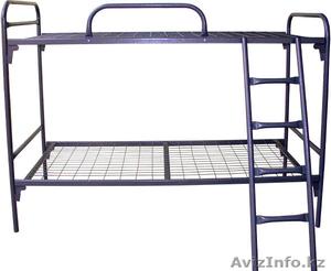 Кровати металлические для казарм, кровати двухъярусные для общежитий, оптом - Изображение #3, Объявление #1436420