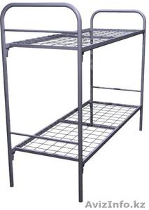 Кровати металлические для казарм, кровати двухъярусные для общежитий, оптом - Изображение #4, Объявление #1436420