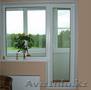 Пластиковые окна. Балконный блок с глухим окном. (панельный дом)